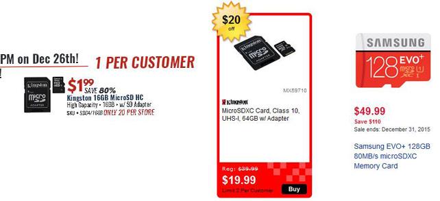 micro sd memory card price