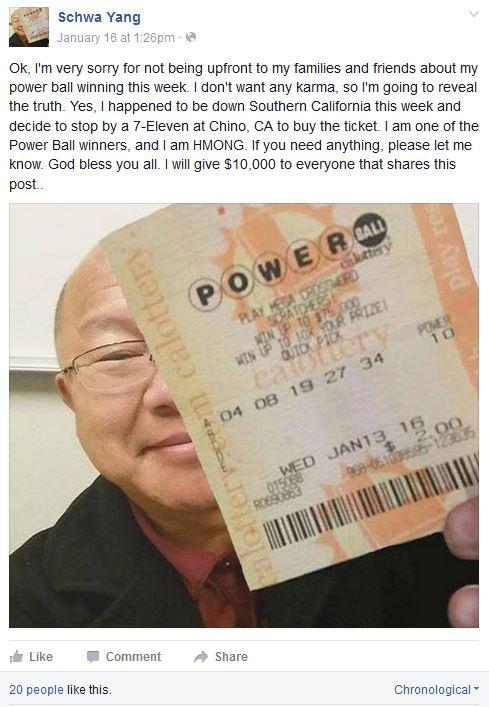 schwa yang fake facebook powerball