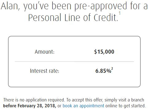 Getting Pre Approved Line of Credit Offers For Thousands